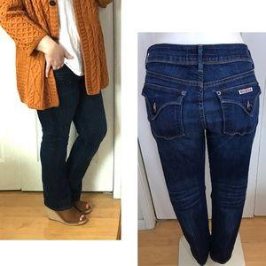 Hudson flap pocket Sz 32 Jeans bootcut dark wash